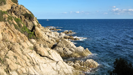Landscape of the Costa Brava near Lloret de Mar, Spain