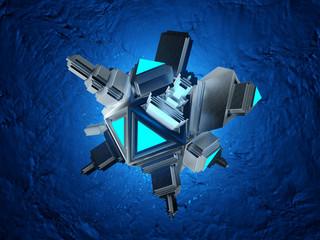 A medical microscopic Nano Bot particle