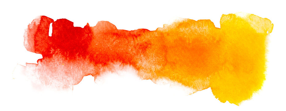 Drawing of hot colors, done in watercolor