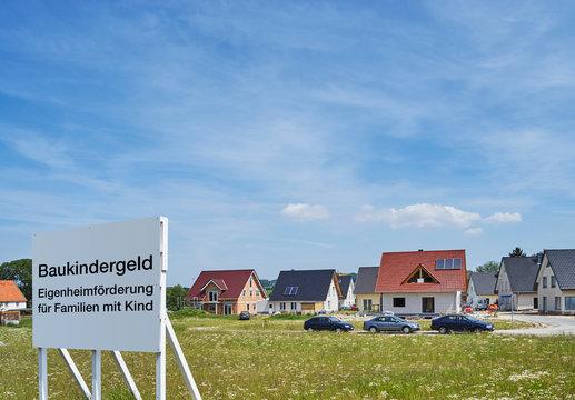 Baukindergeld - Neubausiedlung