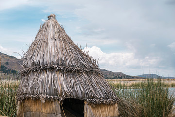 cone reed roof hut