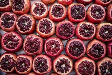 decoration of pomegranate