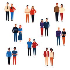 Groups of people cartoons