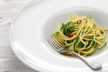 spagetti with agretti, italian food
