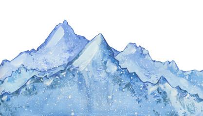 watercolor snow  peaks