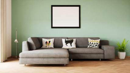 vue 3d sofa + cadre 06