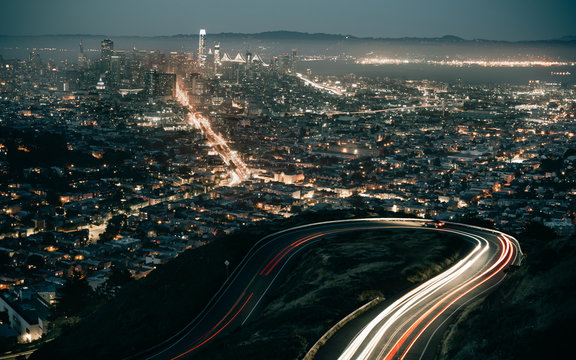 time lapse photography of city