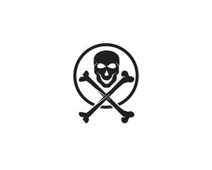 Skull head logo and symbol vectors