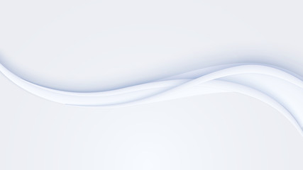 Smooth curved stream of lines