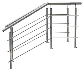 Chromium metal fence with handrail