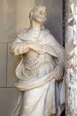 Saint Joseph, statue on the altar of Our Lady in Zagreb cathedral