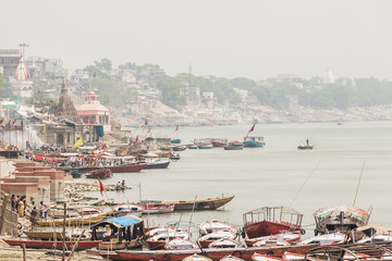 Varanasi, India, the city with the burning ritual on the sacred river Ganges