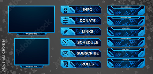 Stream webcam overlay  Twitch live facecam set, 16:9 and 4:3