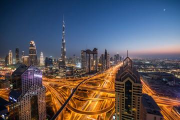 Dubai Sheikh Zayed Road and Burj Khalifa