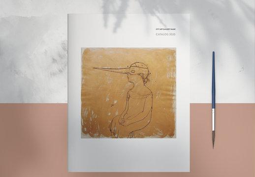 Art Gallery Catalog Layout