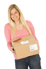 Moving: Woman Ready To Ship Package