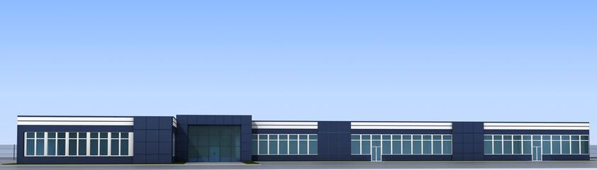 3d render exterior mall, exterior visualization, 3D illustration Wall mural