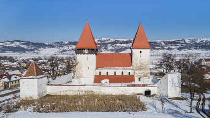 Merghindeal fortified church, Romania