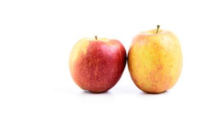 Zwei Äpfel isoliert