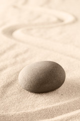 Mindfulness zen meditation stone for concentration and focus.