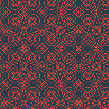 Abstract line art eastern pattern