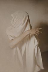 man in white dress