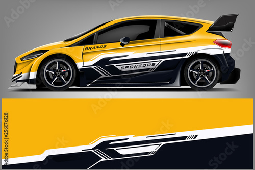 Car decal wrap design vector  Graphic abstract stripe racing