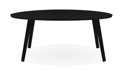 Black coffee table. vector illustration