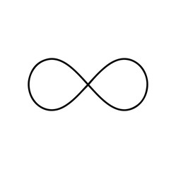 Wall Mural - Black infinity symbol icon. Concept of infinite, limitless and endless.