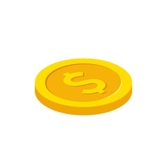 Wall Mural - Dollar coin in isometric style. Best quality. Vector illustration.