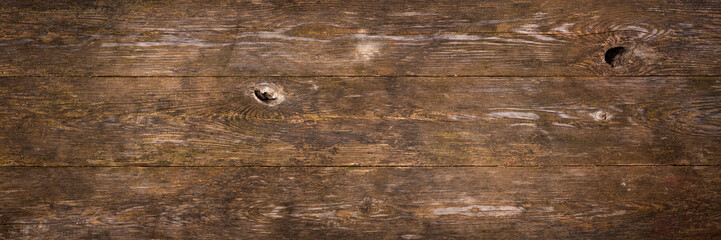 Dark wood planks as background or texture Wall mural