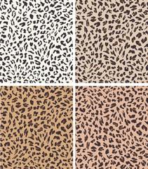 leopard seamless pattern design . vector illustration background