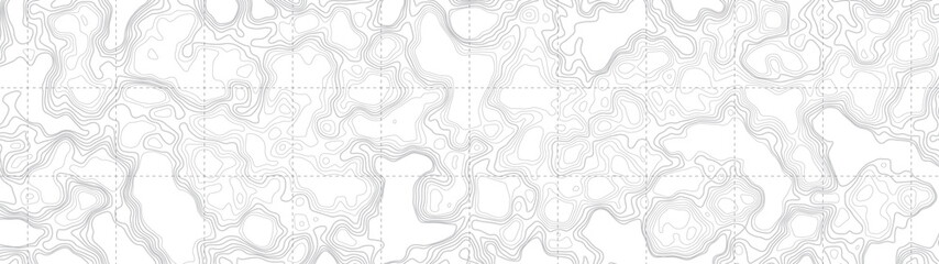 Ultra Wide Wallpaper Abstract Blank Topographic Contour Map Subtle White Vector Background. Topographic Cartography. Topographic Map. Topographic Relief. Topography Map. Topography Relief  Fototapete