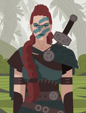 Boudica ancient celtic barbarian queen female warrior