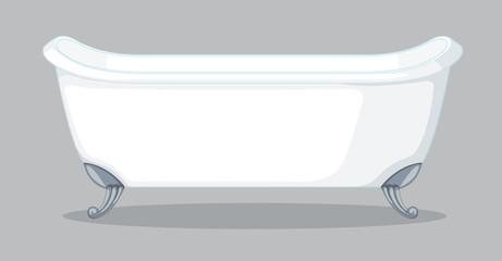 A bathtub on grey background