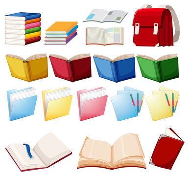 Set of book object