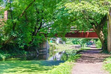 Obraz Delaware Canal Towpath, New Hope, PA - fototapety do salonu