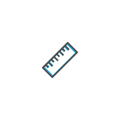 Ruler icon design. Stationery icon vector design