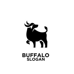 Head of Bull, buffalo logo, vector logo and symbol