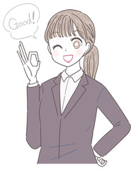ビジネスウーマン 就活生 会社員 若い女性