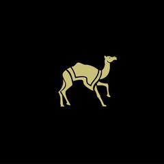 amel logo design template,vintage camel vector illustration