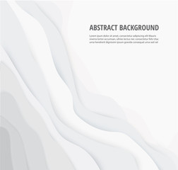 abstract white gray lines geometric background and space for write