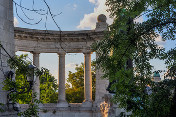 Columns in a public park in Budapest Hungary