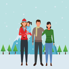 family avatars cartoon character