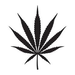 Marijuana cannabis weed vector leaf icon logo symbol illustration
