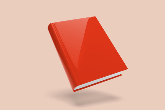 Mock up of a floating book on a color background - 3d rendering