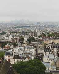 Buildings and skyline of Paris, France, viewed from top of the Sacre-coeur in Montmartre