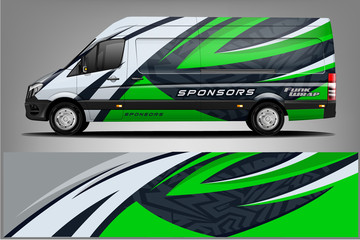 Fototapete - Van Wrap Livery design. Ready print wrap design for Van.