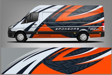 Van Wrap Livery design. Ready print wrap design for Van.