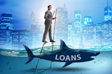 Businessman successfully dealing with loans and debts